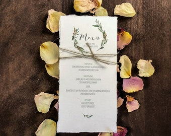 Menu Menu Wedding Motif -Pure Green Wedding Menu, Menu,