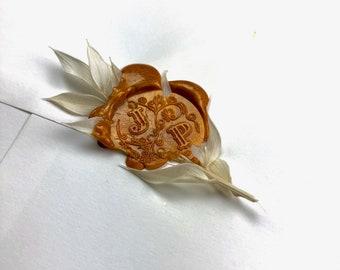 Seal with your monogram, custom wedding seal, personalised engraving