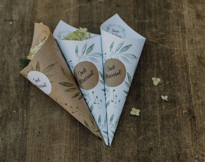 Confetti cone/wedding/flower cone