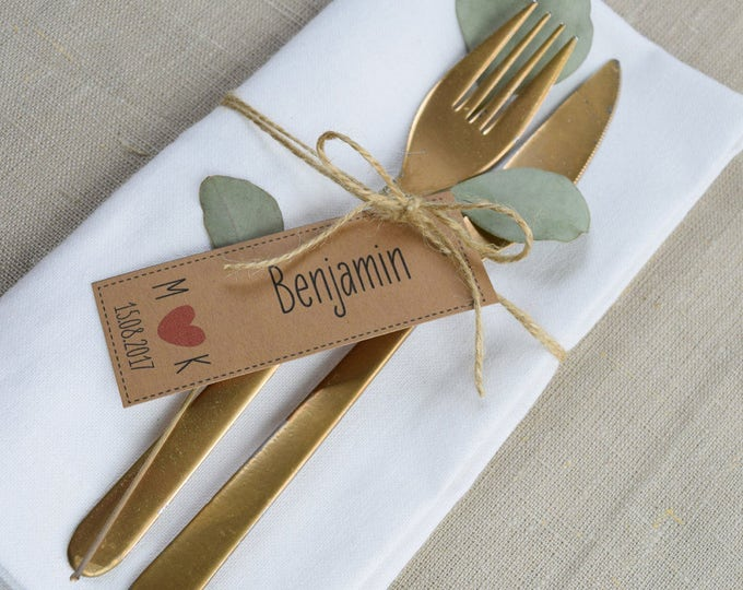 Vintage pendant for guest gifts to the wedding table card, name card, place card, individually printed