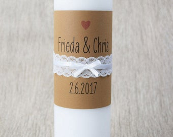 "Traucherze ""vintage-wedding-wedding candle, candle church wedding, vintage wedding"