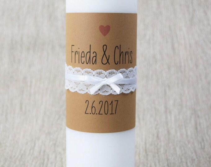"""Traucherze """"vintage-wedding-wedding candle, candle church wedding, vintage wedding"""