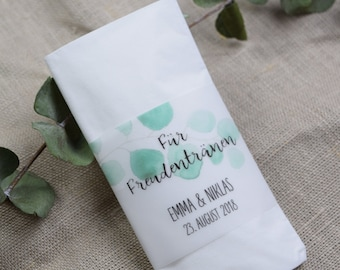 "Tears of Joy Banderole Wedding ""Eucalyptus"""