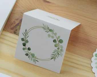 "Table Card ""Ring Love,"" Name Shield, Wedding"