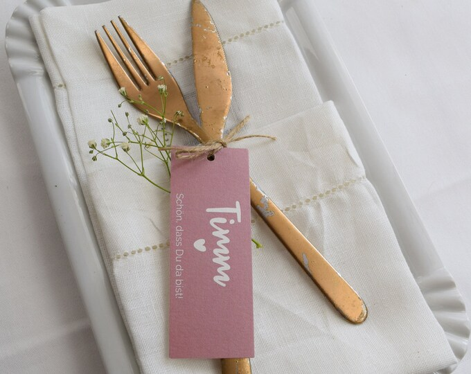 Trailer table card/place card wedding