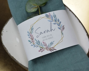 "Napkins Banderole ""Boho Love"" Place Card"
