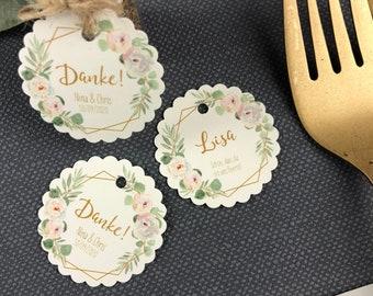 Tischkarten-Hochzeit