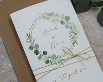 "Wedding Invitation ""Ring Love"" Wedding Invitation Card, Custom Wedding Card, Summer Wedding"