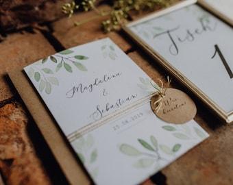 "Wedding Invitation ""Watercolor Love"" Wedding Invitation Card, Custom Wedding Card"