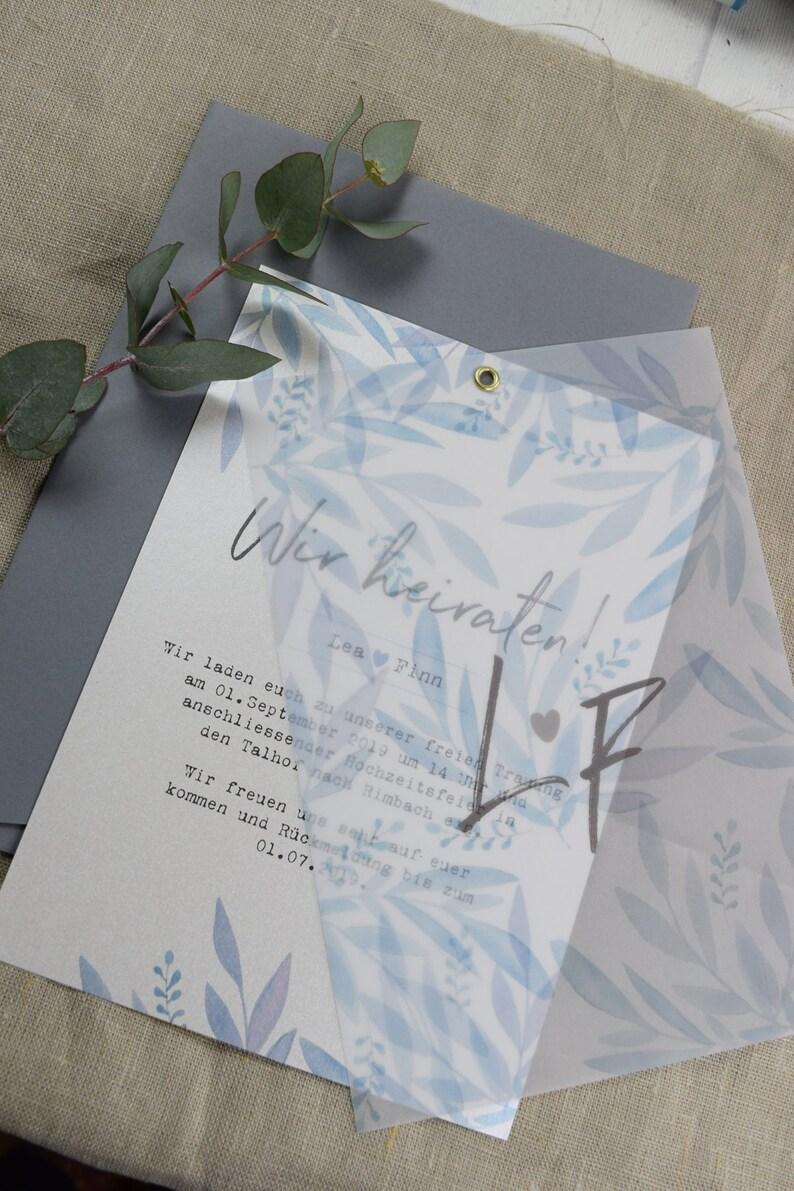 Hochzeitskarten hellblau