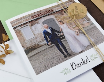 """Thank you card MAXI """"blooming love"""" for the wedding, folding card for the wedding, individually printed card incl envelope, thank-you wedding"""
