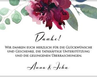 "Thanksgiving Card Wedding ""Sage&Wine Red"", Thanksgiving to Wedding, Custom Print"