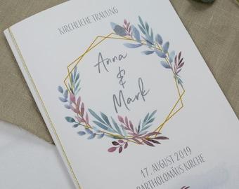 "Church booklet ""Hülle"" Wedding ""Boho-Liebe"", wedding booklet, church wedding, church sheet wedding"