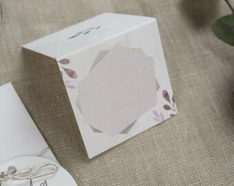 "Place card ""Blush"", name tag, wedding"
