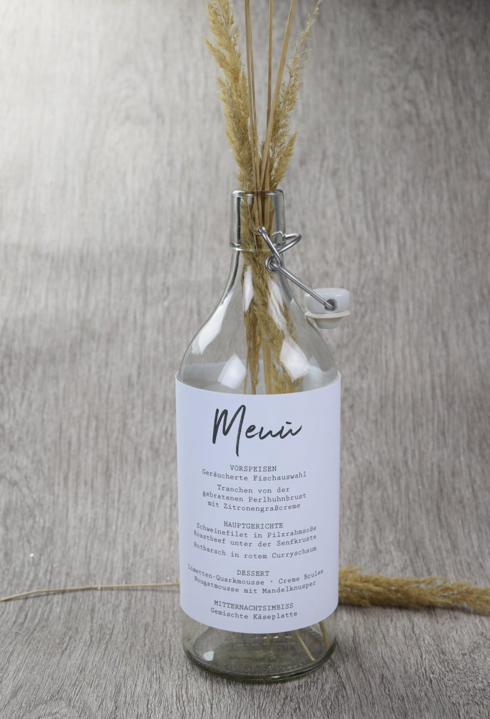 Menü Flasche