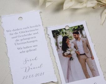 "Pendant Thanksgiving ""Photo Stripes"" with thank you text, thanksgiving to the wedding, custom print, Polaroid look"