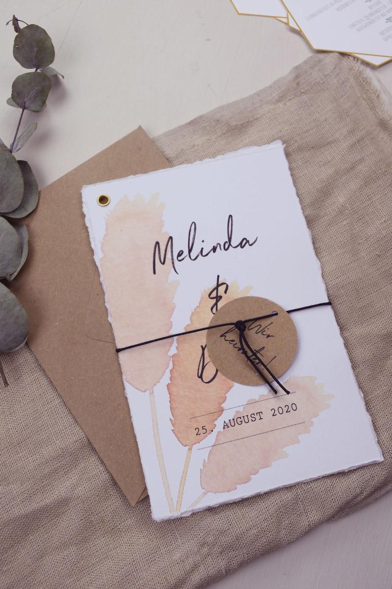 Hochzeitskarten mit Pampasgras