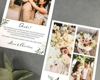 "Thanksgiving Card Wedding ""Mediterranean Love"", Thanksgiving to Wedding, Custom Print, Polaroid Look"