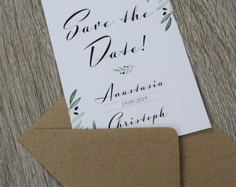 """Save the Date Card Wedding """"Mediterranean Love"""""""