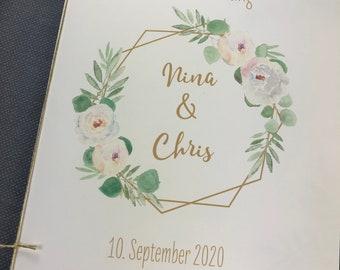 "Church booklet ""Hülle"" Wedding ""Geometric FLower"" Wedding booklet, Church sheet Wedding, church wedding"