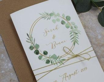 "Wedding invitation ""Ring Liebe"" invitation card to the wedding, individual wedding card, summer wedding"