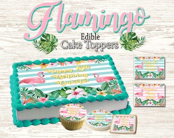 Rainbow unicorn Anniversaire Personnalisé Cake Topper A4 Comestible glacé//Icing
