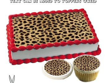 Fine Cheetah Cake Topper Etsy Personalised Birthday Cards Vishlily Jamesorg