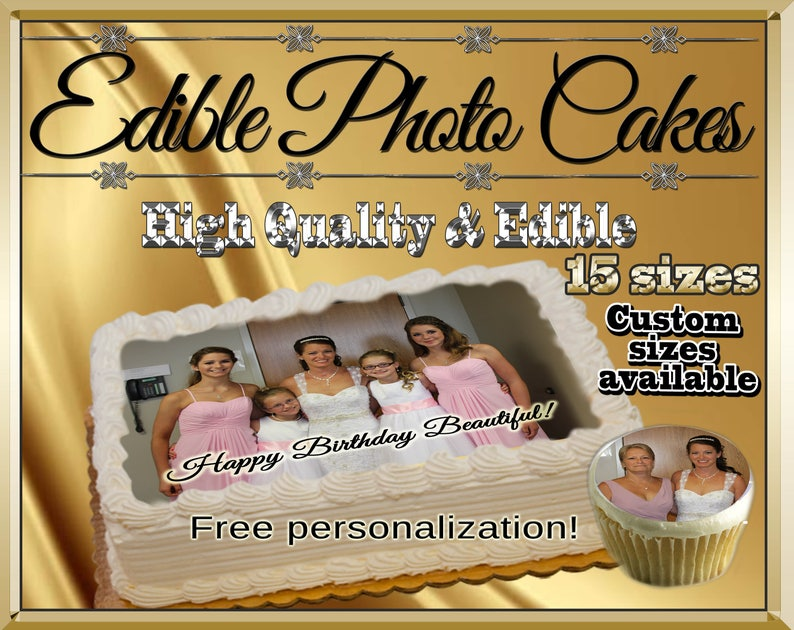 Custom edible cake pictures Cupcakes cookies toppers image 0