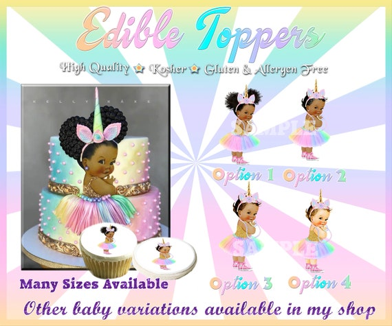 Pink gold Vintage Baby girl Edible Cake Topper sugar paper picture tutu sneakers