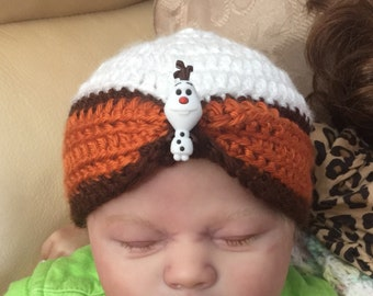 Olof inspired snowman hat/beanie/skull cap/turban/cap