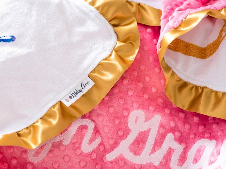 Rainbow Baby Blanket Personalized IVF Baby Gift Rainbow   Etsy