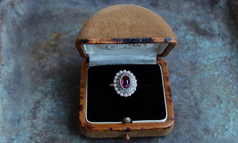 Antique ring box Jewelry Storage