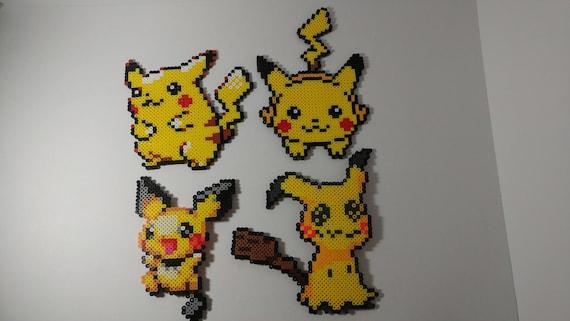 Large Pikachu Pichu And Mimikyu