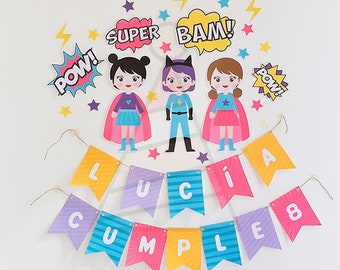 Garland For Supergirl Parties Party Banner