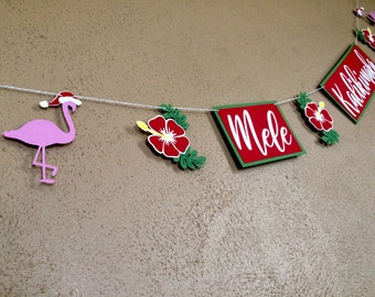 mele kalikimaka hawaiian christmas banner tropical christmas party decor beach christmas winter holiday party decorations christmas luau