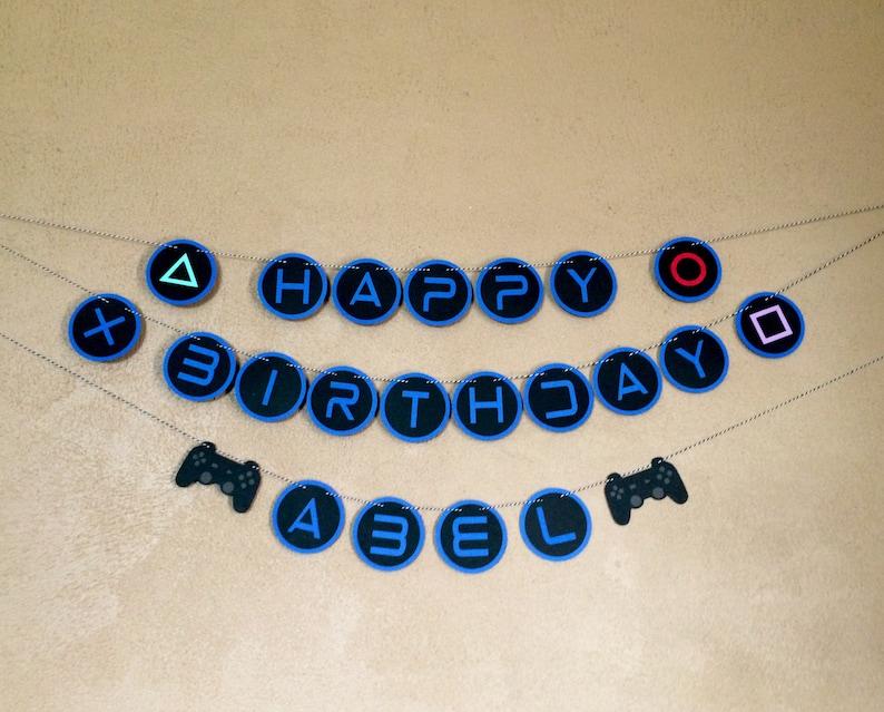 Playstation Birthday Banner Gamer Birthday Party Video Game Etsy