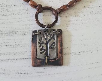 Rustic Tree of Life Adjustable Unisex Bracelet