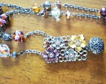 Spice Garden Spell Box Pendant Necklace with hidden Carnelian Acorn