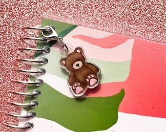Teddy Bear Acrylic Charm