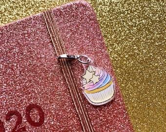 Rainbow Cupcake Acrylic Charm