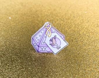 Chocolate Frog Acrylic Pin