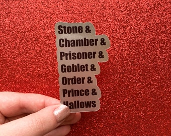 Wizard Books Die Cut Sticker | Glossy, Transparent, Matte, and Silver Foil Options