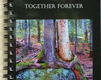 Anniversary gift,blank journal,nature journal,nature journal,naturalist notebook,hugging trees,gift,love,valentine's day,friendship,unique