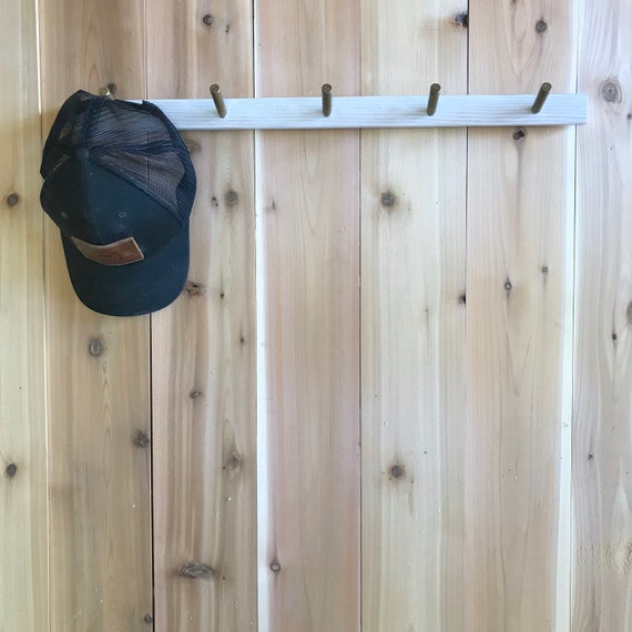 Baseball Hat Rack Rustic Home Decor Entryway Organizer Etsy
