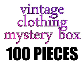 91a13680636b0 Vintage clothing mystery box - 100 pieces - wholesale, for youtube unboxing  videos, or adding pieces to your own wardrobe!