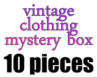 de3f4b7020195 Vintage clothing mystery box - 10 pieces - wholesale