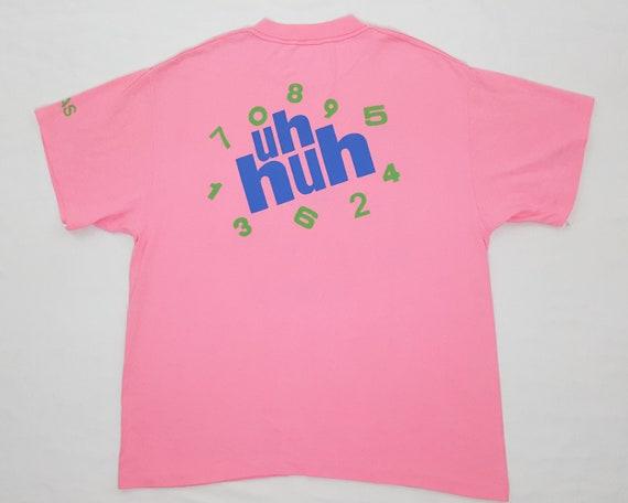 Numérologie surdimensionné hip-hop t mens shirt t-shirt UH HUH courtes manches mens t XL chemise rétro tshirt rose «nous avons obtenu le bébé bon nombre» 406517