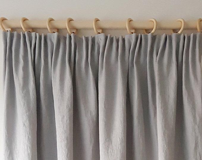 Linen Curtain Panel / Pencil Pleat Curtain