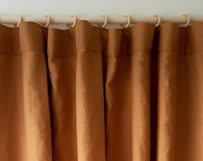 Linen Curtain Panel / Pencil pleat curtains/ Natural fabric