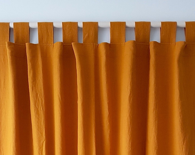 Linen curtain panel / Tab top curtains / Lined curtains
